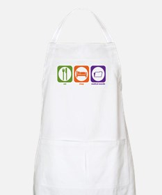 Eat Sleep Medical Records BBQ Apron