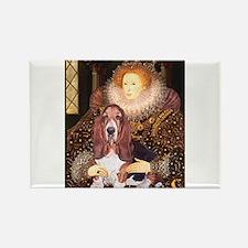 Queen & Basset Rectangle Magnet