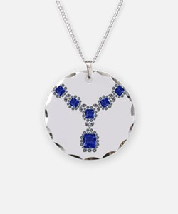 Sapphire and Diamond Necklac Necklace