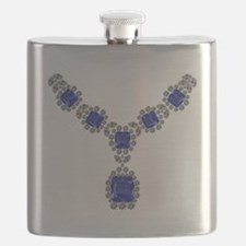 Sapphire and Diamond Necklace Flask