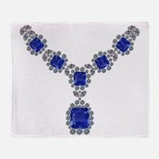 Sapphire and Diamond Necklace Throw Blanket