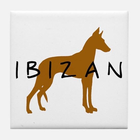 Ibizan Dog (brown) Tile Coaster