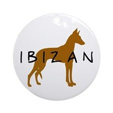 Ibizan Dog (brown) Ornament (Round)