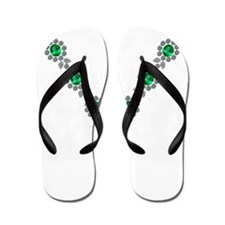 Emerald and Diamond Necklace Flip Flops
