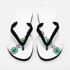 Emerald and Diamond Necklace Flip Flops