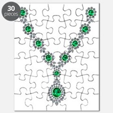 Emerald and Diamond Necklace Puzzle