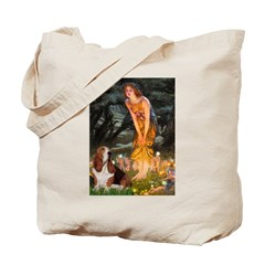 Fairies & Basset Tote Bag