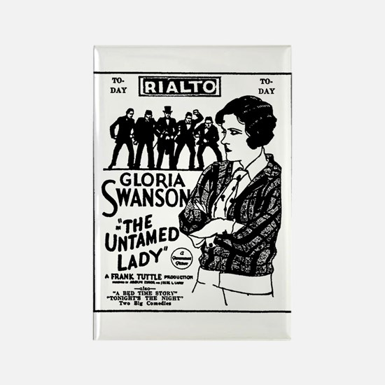 Gloria Swanson The Untamed Lady Rectangle Magnet