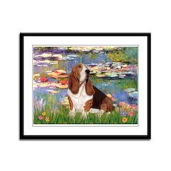 Lilies & Basse Framed Panel Print