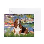 Lilies & Basse Greeting Cards (Pk of 10)