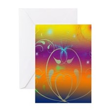 Butterflies and Cosmos Greeting Card