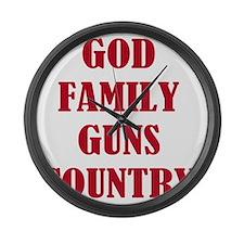 Gun Control Large Wall Clock