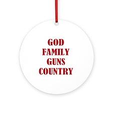 Gun Control Round Ornament