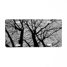 Maple Tree In Winter Fracta Aluminum License Plate