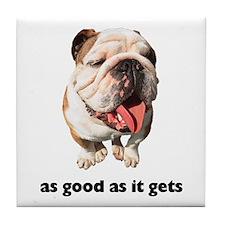 Good Bulldog Photo Tile Coaster