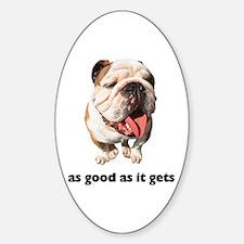 Good Bulldog Photo Oval Decal