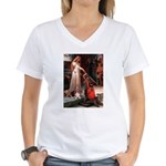 The Accolade & Basset Women's V-Neck T-Shirt