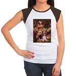 The Path & Basset Women's Cap Sleeve T-Shirt