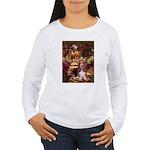 The Path & Basset Women's Long Sleeve T-Shirt