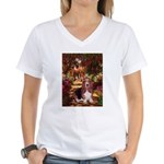 The Path & Basset Women's V-Neck T-Shirt