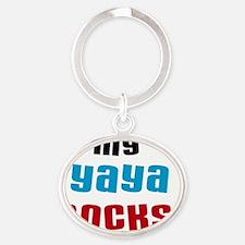 My Yaya Rock Oval Keychain