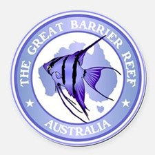 Australia -The Great Barrier Reef Round Car Magnet