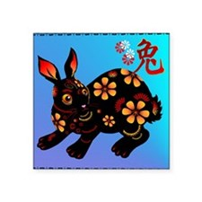 """Year Of The Rabbit Square Sticker 3"""" x 3"""""""