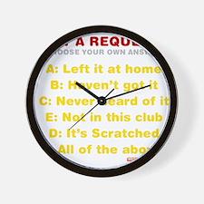 Got A Request? Wall Clock