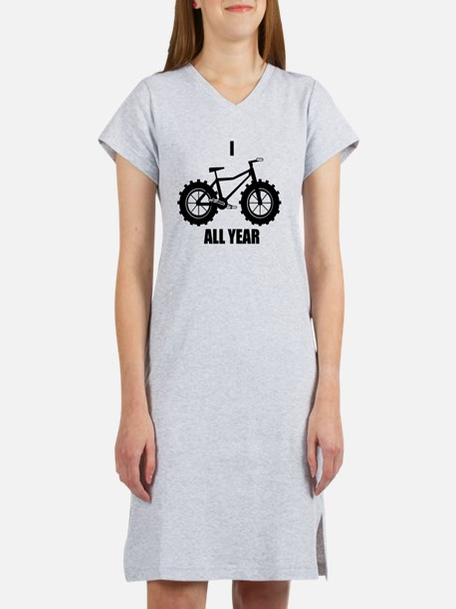 I Fatbike All year Women's Nightshirt