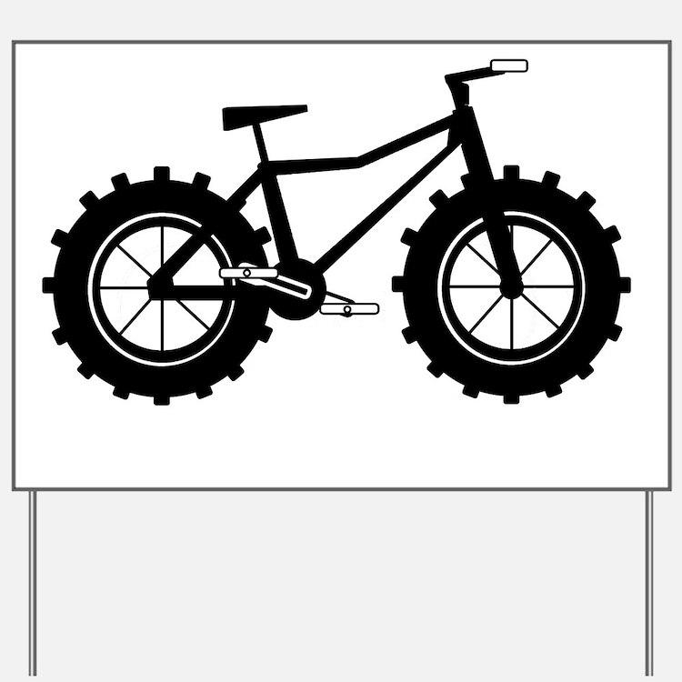 Fat Bike Yard Sign