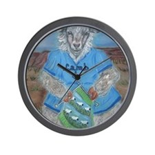 Spring Lamb AComing Wall Clock