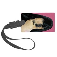 Adorable Sleeping Pug Puppy Luggage Tag