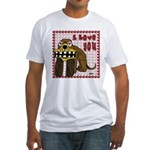 I Love You Dog Fitted T-Shirt