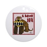I Love You Dog Ornament (Round)