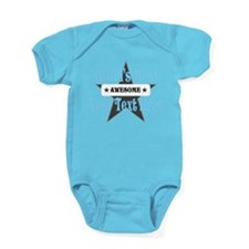 Personalized Worlds Most Awesome Baby Bodysuit