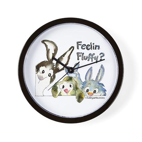 Funny Rabbits Wall Clock
