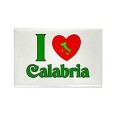 I Love Calabria Italy Rectangle Magnet