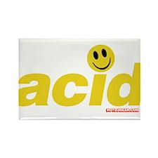 Acid Smiley Rectangle Magnet