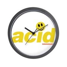Acid Smiley Wall Clock