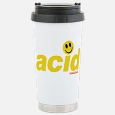 Acid Smiley Stainless Steel Travel Mug