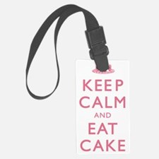 Keep Calm And Eat Cake Luggage Tag