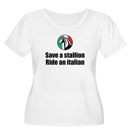 Save a Stallion Ride an Itali Women's Plus Size Sc