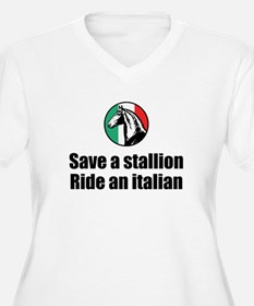 Save a Stallion Ride an Itali T-Shirt
