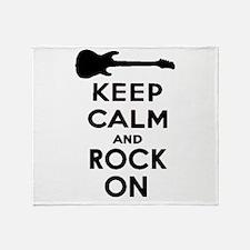 ROCK ON Throw Blanket