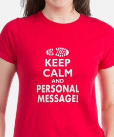 Personalized Keep Calm Hiking Boot Tee