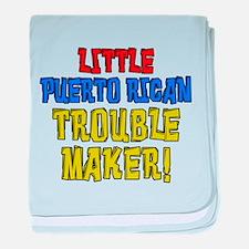 Puerto Rican Trouble Maker baby blanket