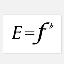 E equals F flat Postcards (Package of 8)