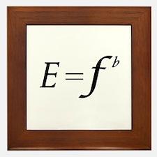 E equals F flat Framed Tile