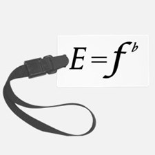 E equals F flat Luggage Tag