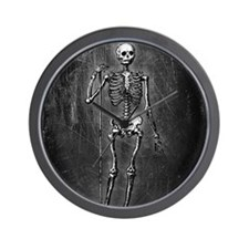 Skeleton Grim Reaper Wall Clock